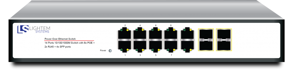 POE switch 14 ports